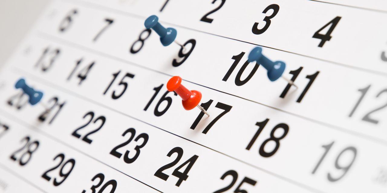 Kalender Höstterminen 2018